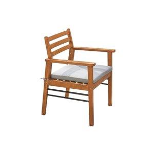 Chaise de patio Gloucester de Vifah, en bois et polyester, brun et bleu