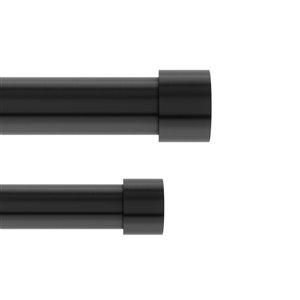 Tringle à rideaux double extensible Cappa de Umbra, noir