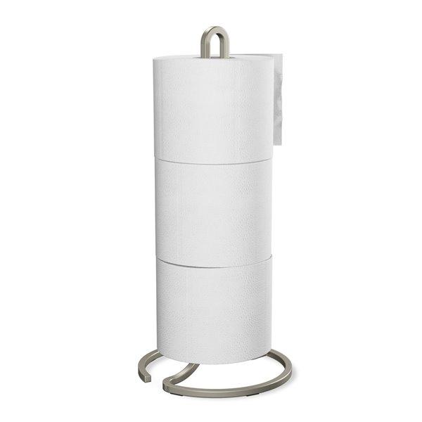 Porte-papier hygiénique Squire de Umbra à 3 rouleaux, nickel