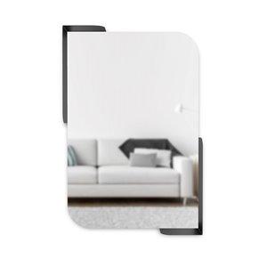 Miroir mural avec tablettes Alcove de Umbra, 30 po x 20 po, noir