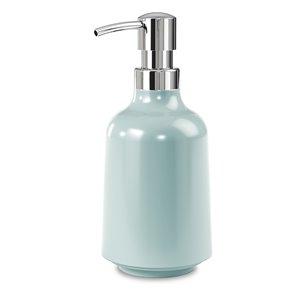 Pompe à savon liquide ou solution Step en plastique, bleu