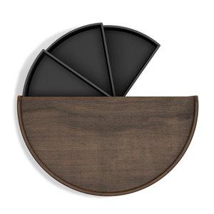 Boîte à bijoux Moona de Umbra, noir