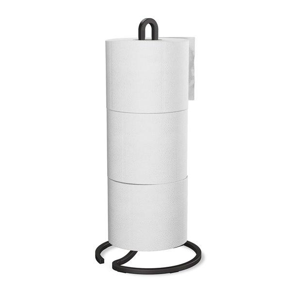 Porte papier hygiénique à 3 rouleaux Squire de Umbra, noir