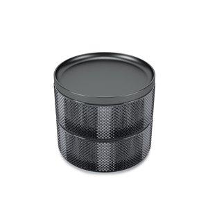 Boîte à bijoux en verre Tesora de Umbra, fumée