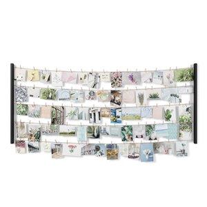 Grand cadre photo multivue Hangit de Umbra, 26 po x 60 po, noir