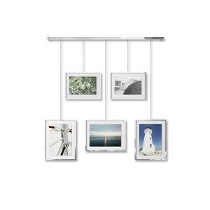 Ensemble de cadres photo galerie Exhibit de Umbra, chrome