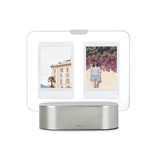 Cadre photo à DEL Glow de Umbra, 2 po x 3 po, nickel