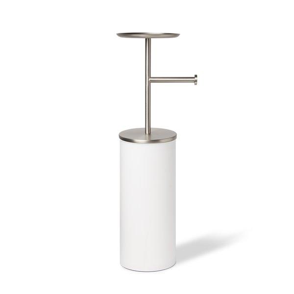 Porte-papier toilette avec rangement Portaloo de Umbra, blanc