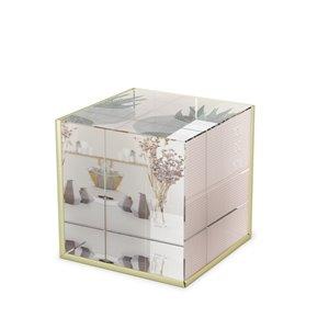 Porte-photo en verre Ice Crystal de Umbra, or
