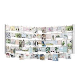 Grand cadre photo multivue Hangit de Umbra, 26 po x 60 po, blanc