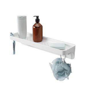 Etagère de salle de bain à ventouses Flex de Umbra, blanc