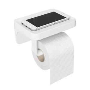 Porte-papier toilette avec étagère Sure-Lock Flex de Umbra, chrome