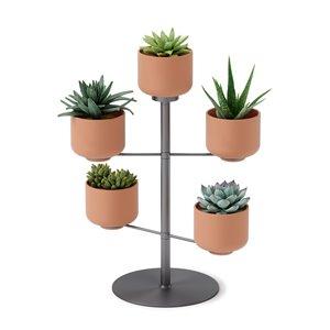 Jardinière en céramique Terrapotta de Umbra, 5 pots, métal