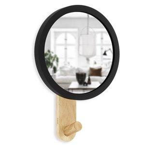 Miroir avec crochet Hub de Umbra, noir