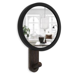 Miroir et crochet Hub de Umbra, noir