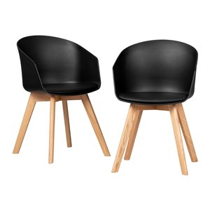 Ensemble de 2 chaises de salle à manger Flam de South Shore, noir