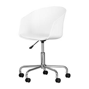 Chaise de bureau pivotante Flam de South Shore, blanc