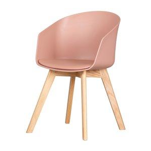 Chaise avec base en bois Flam de South Shore, rose