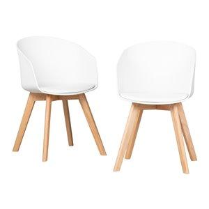 Ensemble de 2 chaises de salle à manger Flam de South Shore, blanc