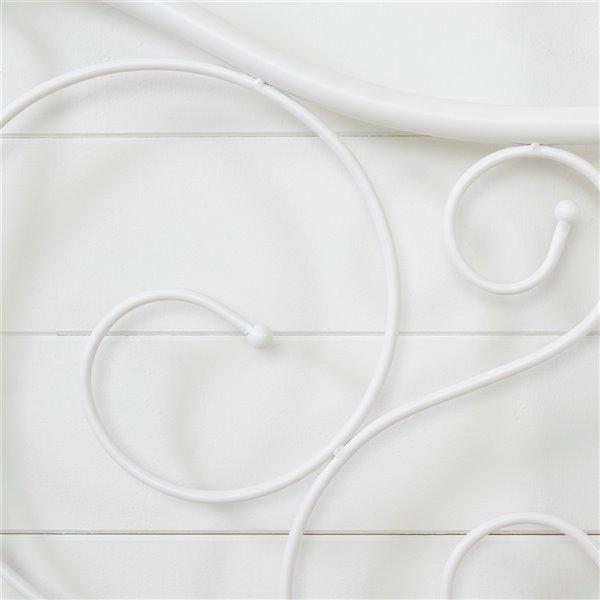 South Shore Summer Breeze Complete Full Metal Platform Bed - White