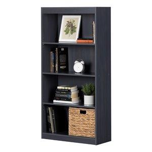South Shore Axess 4-Shelf Composite Bookcase - Blueberry