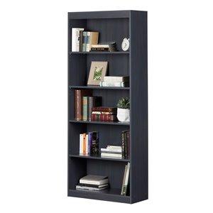 South Shore Axess 5-Shelf Composite Bookcase - Blueberry