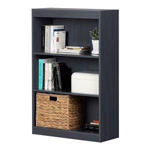 South Shore Axess 3-Shelf Composite Bookcase - Blueberry