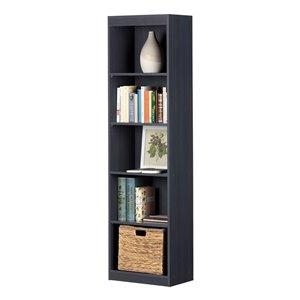 South Shore Axess 5-Shelf Composite Narrow Bookcase - Blueberry