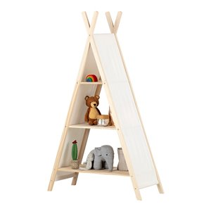 South Shore Sweedi Teepee Shelving Unit - Natural Cotton and Pine