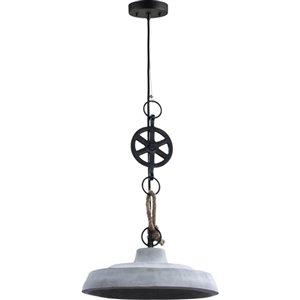Luminaire suspendu Indiana moderne de Notre Dame Design, 1 lumière DEL, gris