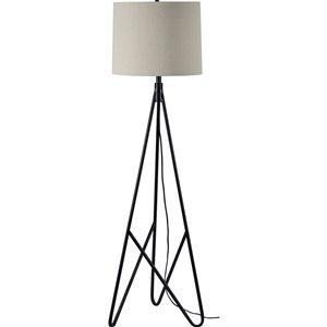Lampe sur pied Hingston de Notre Dame Design, 60 po, noir/abat-jour beige