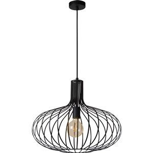 Luminaire suspendu Rada moderne de Notre Dame Design, 1 lumière DEL, noir