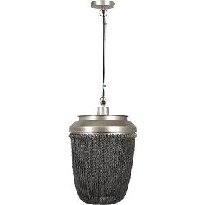 Luminaire suspendu Ivey moderne de Notre Dame Design, 1 lumière DEL, noir/argent