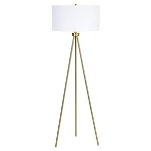 Lampe sur trépied Noiva de Notre Dame Design, 61 po, or/abat-jour blanc