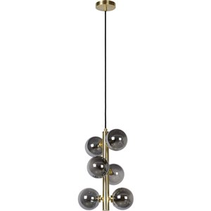Lustre à 6 lumières moderne Gilmour de Notre Dame Design, laiton