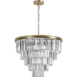 Lustre à 10 lumières moderne Genuine de Notre Dame Design, champagne