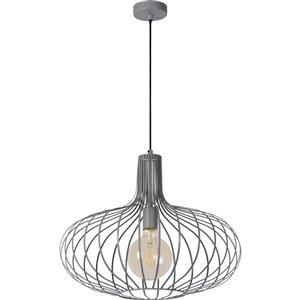 Luminaire suspendu Tancy moderne de Notre Dame Design, 1 lumière DEL, gris