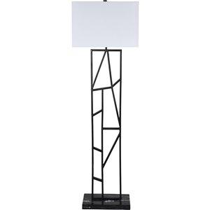Lampe sur pied Arnott de Notre Dame Design, 60 po, noir/abat-jour blanc