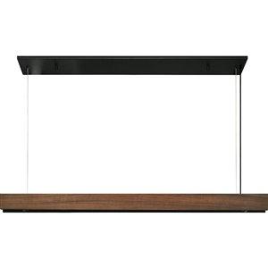 Lustre à 1 lumière DEL moderne Webber de Notre Dame Design, brun