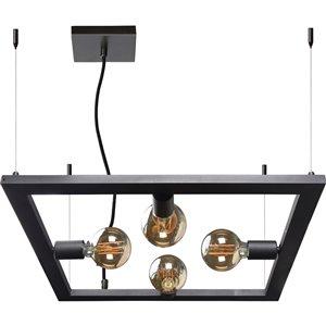 Luminaire suspendu Marigolden moderne de Notre Dame Design, 4 lumières DEL, noir