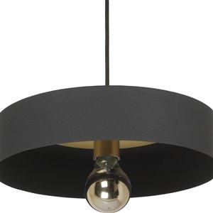 Luminaire suspendu Morlee moderne de Notre Dame Design, 1 lumière DEL, noir
