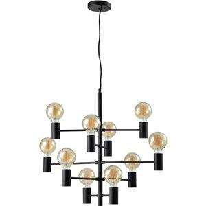Notre Dame Design Gardener Industrial 10-Light Chandelier - Black