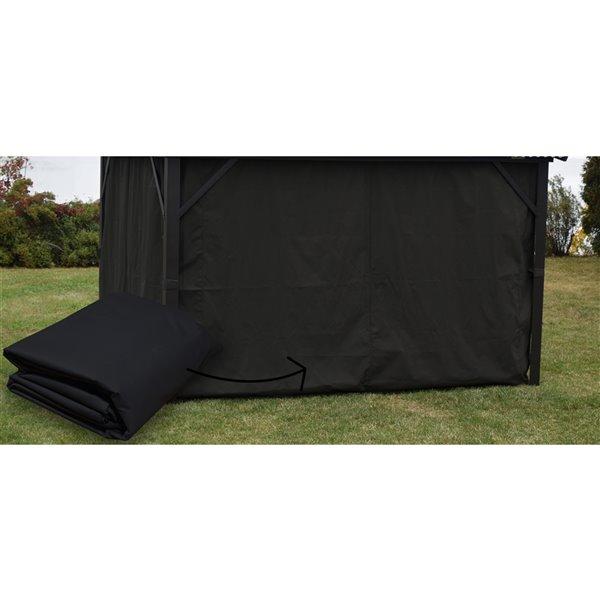 Rideau pour gazebo de F.Corriveau International, 10 pi x 14 pi, noir