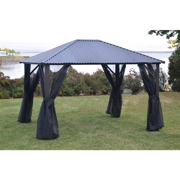 Moustiquaire pour gazebo de F.Corriveau International, 10 pi x 10 pi, noir