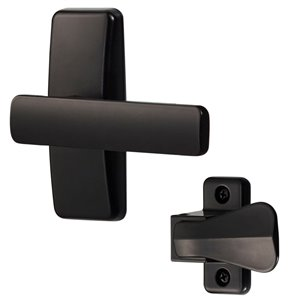 Ideal Security AJ Modern Lever Set for Screen and Storm Door - Black