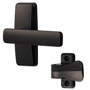 Ensemble de levier moderne AJ d'Ideal Security pour porte-moustiquaire et contre-porte, noir