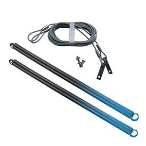 Ressorts et câbles de sécurité pour porte de garage Ideal Security. 90 lb, bleu pâle, paquet de 2