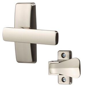 Ideal Security AJ Modern Lever Set for Screen and Storm Door - Satin Nickel