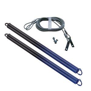 Ressorts et câbles de sécurité pour porte de garage Ideal Security. 140 lb, bleu, paquet de 2