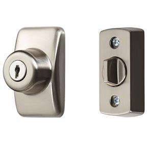Ideal Security Keyed Deadbolt - 2.76-in - Satin Silver